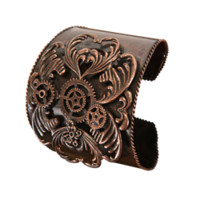 Antique Copper Steampunk Cuff - LU-531330 by Medieval Collectibles