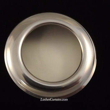 Lot of 10 New Large Chrome Metal Curtain Drapery Hardware 1 9/16 inch Decorative Grommets/Rings with Washer Eyelet