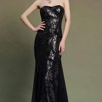 Sequin Lace Mermaid Gown