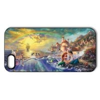Vcase-008 Romantic Beautiful Ariel The Little Mermaid Hard Printed Case Protector for iPhone 5