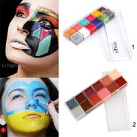 12 Colors Flash Tattoo Face itBody