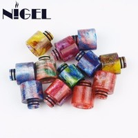 Nigel Resin Drip Tip Fit TFV8 Baby All 510 EGo Atomizer Mouth Mouthpiece For Vape Electronic Cigarette Accessories DIY E Cigs
