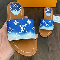 Louis Vuitton LV new ladies letter printed home casual slippers Shoes