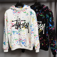 Fashion Print Hooded Pullover Tops Sweater Sweatshirts