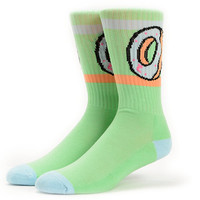 Odd Future Donut Green Crew Socks