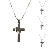 Men The Cross Ring Set Alloy Plated Body Chain Jewelry Necklaces & Pendants Long