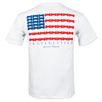 Properly Tied American Bowtie T-Shirt - White