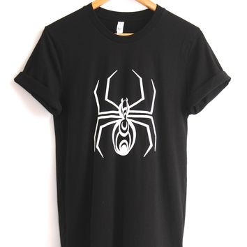 Hypnotic Spider Black Graphic Unisex Tee