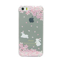 Cherry Blossom Transparent Bunny Case by Cloud 97