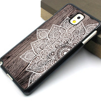 rubber soft samsung case,art wood flower image samsung note 3 case,mandala flower samsung note 4 case,wood grain flower galaxy s3 case,fashion galaxy s3 cover,personalized galaxy s4 case,latest design galaxy s5 case
