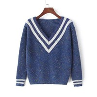 Long Sleeve Knit Tops Winter Pullover Sweater [8422527361]