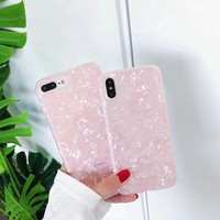 Conch Phone Case For Coque iPhone7 8 Plus Dream Shell Pattern Cases For iPhone X 8 7 6 6S Plus 5 5S Soft TPU Silicone Back Cover