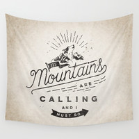 Mountains Wall Tapestry by Seaside Spirit