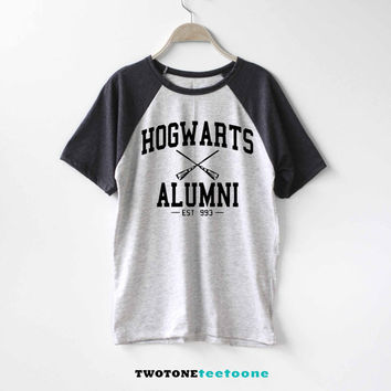 Hogwarts Alumni Shirt Harry Potter Shirt Baseball Raglan Shirt Tee TShirt