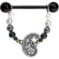 Handcrafted Tuxedo Chic Paisley Nipple Ring MADE WITH SWAROVSKI ELEMENTS   Body Candy Body Jewelry