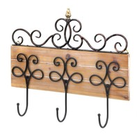 Scrollwork Hooks Wall Plaque