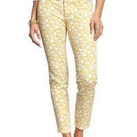 Old Navy Womens The Pixie Ankle Pants Size 18 Regular - Yellow floral