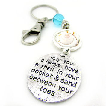 Beach Keychain, Sand Between your Toes Key Chain, Gift for Beach Lover