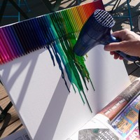 Melted Crayon Art   Unsimple Living