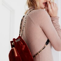 Free People Quilted Chain Backpack