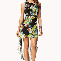 Floral Print High-Low Dress | FOREVER 21 - 2072274204