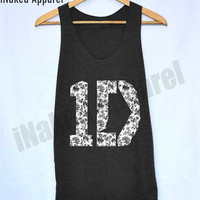1D One Direction Flower Chic Shirt Harry Style Shirts Tank Top Vintage Unisex Size S M L