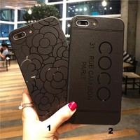 Fashion Coco flowers Man mobile phone case for iPhone X 7 7plus 8 8plus iPhone6 6s plus -171211