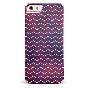 Purple and Red Grunge Clouds with White Chevron iPhone 5/5s or SE INK-Fuzed Case