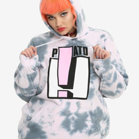 Panic! At The Disco Exclamation Pink Tie Dye Girls Hoodie Plus Size
