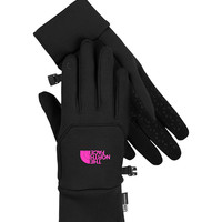 The North Face ETip Gloves for Women in Black and Luminous Pink A7LP-CGA