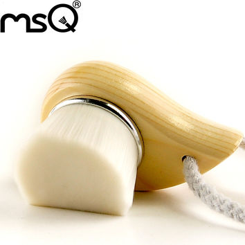 MSQ Brand Hign Quality Facial Wash Brush Face Deep Cleaning Soft Synthetic Hair Wood Handle For Fashion Makeup Tool For Beauty