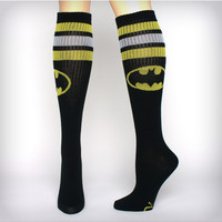 Batman Athletic Stripe Knee High Socks
