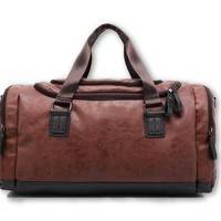 The Olympian - Brown Leather Gym Bag