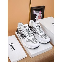 DIOR Men Fashion Boots fashionable Casual leather Breathable Sneakers Running Shoes-71