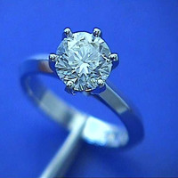 1.50ct Round Diamond Engagement Ring 18kt White Gold GIA certified JEWELFORME BLUE 900,000 GIA EGL certified diamonds
