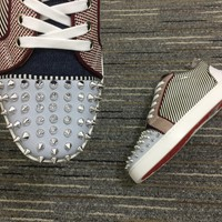 Christian Louboutin Cl Louis Junior Spikes Orlato Sneakers Reference 109 - Best Deal Online