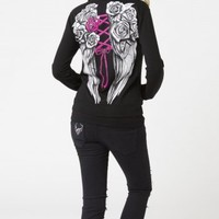 Metal Mulisha CORSET ZIP HOODIE: Maidens Fleece