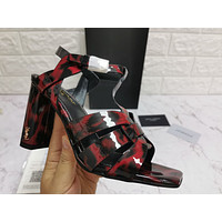 ysl women casual shoes boots fashionable casual leather women heels sandal shoes 138