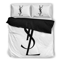 YSL Yves Saint Laurent Inspired Bedding Set - 2 Colors Available