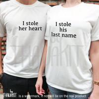 The Thief of Love tshirt - Couple TShirt, Love Tee Shirt, Valentine Tee Shirts, Together top,husband shirt, wedding shirt, Size S M L XL 2XL