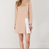 Adidas Pleat Dress in Dust Pearl