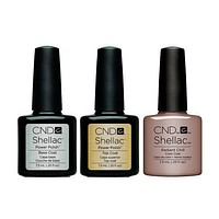 CND - Shellac Combo - Base, Top & Radiant Chill