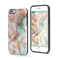 VeaYook Tough Case for iPhone 6 iPhone 6s Case Dual Layer Protection Case High Impact Slim Hard Case with Soft Tpu Interior Absorbing Inked Case (Marble pattern)