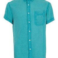 Bleach Peacock Viscose Short Sleeve Shirt - Shirts - New In