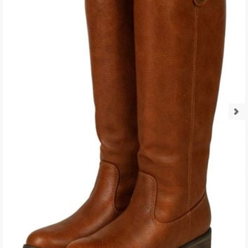 The Madison Riding Boots in Tan