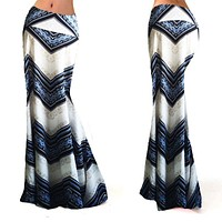 Fashion Casual Print Empire Women Long Gypsy High Waist Maxi Skirts Stretch Full Length Skirt Oversize