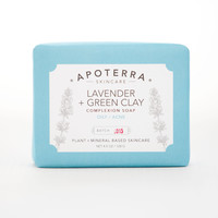 Apoterra Lavender + Green Clay Complexion Soap