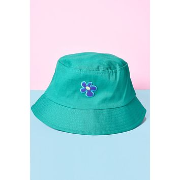 ECH Flower Patch Kelly Green Bucket Hat