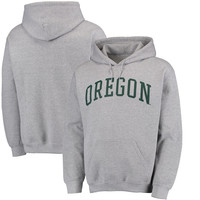 Men's Fanatics Branded Gray Oregon Ducks Basic Arch Pullover Hoodie