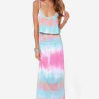 Say When Tie Dye Maxi Dress